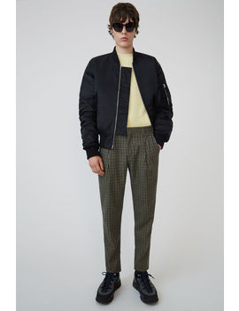 Vichy Check Print Trousers Beige/ Brown by Acne Studios