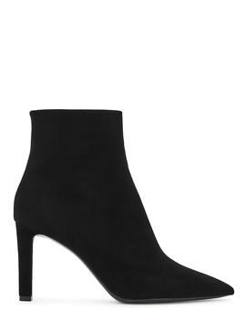 Kate 85 Black Suede Ankle Boots by Saint Laurent