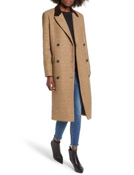 Houndstooth Double Breasted Coat by Moon River