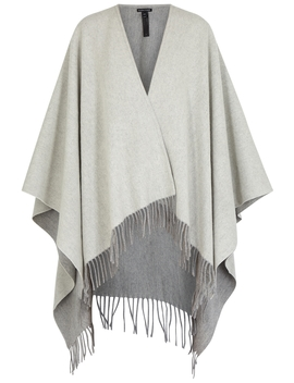 Grey Brushed Wool Blend Cape by Eileen Fisher