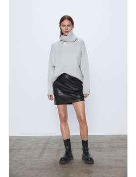Oversized Knit Sweater Turtlenecks Knitwear Woman by Zara