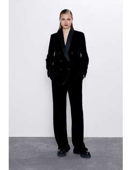 Velvet Tuxedo Jacket Best Sellerswoman by Zara