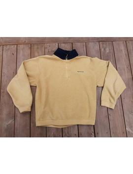 Vintage 90s Nautica Very Soft Mustard Yellow Fleece 1/4 Zip Up Pullover Sweatshirt Xl by Etsy