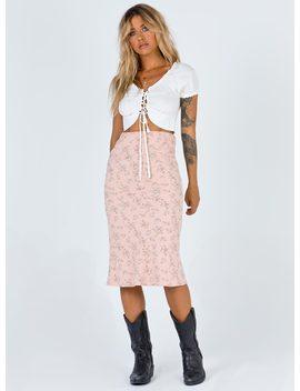Philippa Midi Skirt by Princess Polly