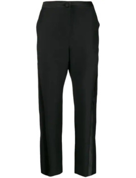 Cropped Slim Fit Tailored Trousers by Lanvin
