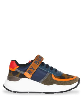 Colour Block Logo Sneakers by Burberry