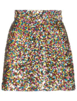Sequin Embellished Mini Skirt by Attico