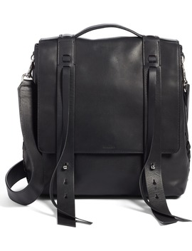 Fin Leather Backpack by Allsaints