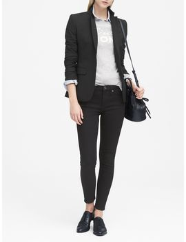 Long And Lean Fit Lightweight Wool Blazer by Banana Republic