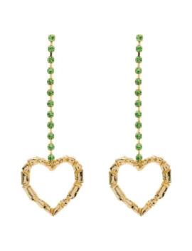 Leonie Heart Drop Earrings by Rixo