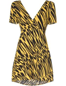 Tiger Print Tie Back Mini Dress by Double Rainbouu