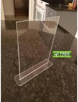 "6"" X 4"" Plexiglass Rectangle Complete With Stand Ships Free by Etsy"