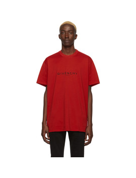 Red 'paris' T Shirt by Givenchy