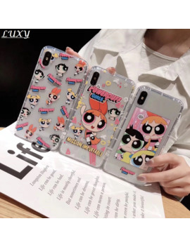 Cute Powerpuff Girls Policemen Ins Phone Case Cover For I Phone 11 Pro Xs X Max Xr 8 7 6 S Plus Cartoon Tpu Back Soft Fundas by Ali Express.Com