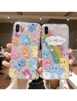 Ins Korea Cute Anime Candy Rainbow Cear Happy Bear Phone Case For Apple Iphone 11 Pro X Xs Max Xr 8 7 6 6s Plus Soft Back Cover by Ali Express.Com