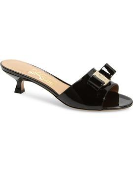 Ginostra Bow Slide Sandal by Salvatore Ferragamo