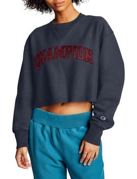 Vintage Wash Reverse Weave® Crop Sweatshirt by Champion