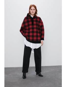 Oversize Check Hoodie by Zara
