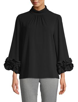 Long Sleeve Ruffle Top by Vince Camuto
