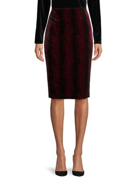 Animal Print Pencil Skirt by Vince Camuto