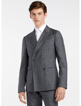 Peaked Lapel Suit by Z Zegna