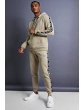 Man Skinny Fit Taped Tracksuit by Boohoo Man