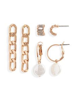 Set Of 3 Earrings by Bp.