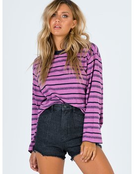 Afends Weekend Hemp Os Long Sleeve Tee Orchid Haze by Afends