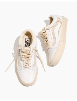 Madewell X Vans® Unisex Old Skool Sneakers In Leather And Sherpa by Madewell