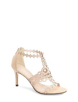 'antonia' Laser Cut T Strap Sandal by Klub Nico