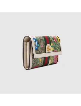 Ophidia Gg Flora Continental Wallet by Gucci