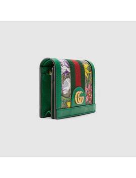 Online Exclusive Ophidia Gg Flora Card Case Wallet by Gucci