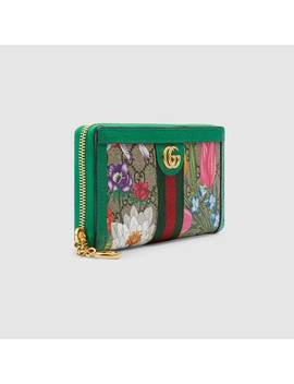 Online Exclusive Ophidia Gg Flora Zip Around Wallet by Gucci