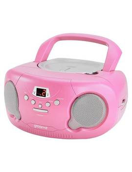 Groove Boombox Cd Player With Radio   Pink881/3141 by Argos