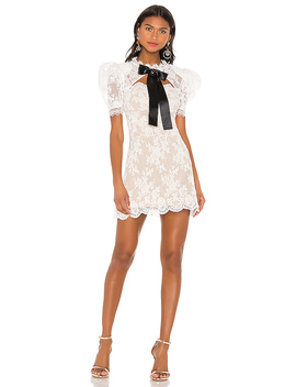 Valentina Bow Dress In White & Black by Bronx And Banco