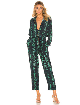 Lia Jumpsuit In Teal Snake by Cleobella