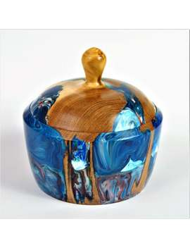 Can Of Wood & Resin Jewelry Box Jewelry Box Sugar Box by Etsy