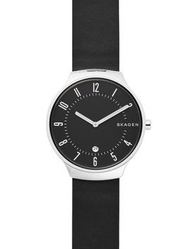Grenen Leather Strap Watch, 38mm by Skagen