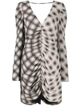 Drapiertes Kleid Mit Print by Eckhaus Latta