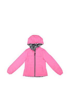Girls 7 16 Reversible Multi Print Jacket by London Fog
