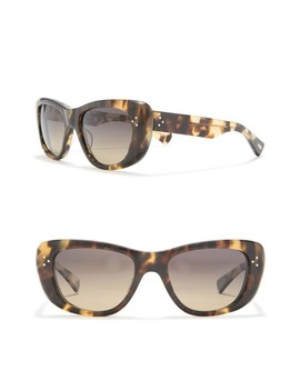 Grace Polarized 53mm Rectangular Cat Eye Sunglasses by Salt