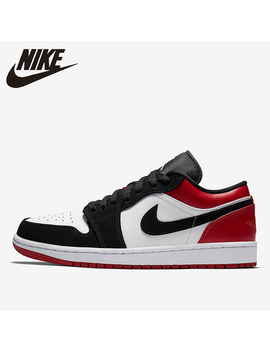 Nike Air Jordan 1 Low Black Toe  Basketball Shoes New Arrival Comfortable Outdoor Sneakers #553558 116 by Ali Express.Com