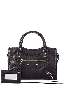 Balenciaga Classic City Mini Leather Shoulder Bag by Balenciaga