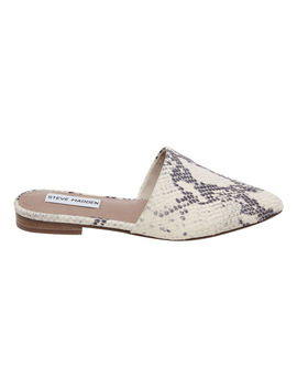 Trace P Natural Snake Heeled Shoes by Steve Madden