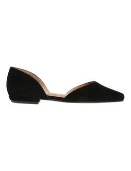 Gliss Black Suede Flat Shoe by Steve Madden