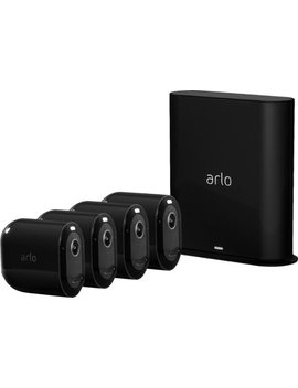 Pro 3 4 Camera Indoor/Outdoor Wire Free 2 K Hdr Security Camera System   Black by Arlo