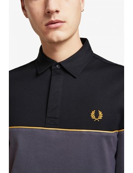 Panelled Long Sleeve Polo Shirt by Fred Perry