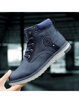 Men's Leisure Shoes Working Boots Cotton Padded Sneaker Outdoor Waterproof Sport by Fashion