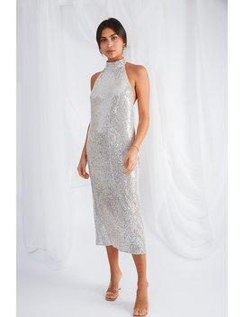 Raleigh Halterneck Dress by Pretty Lavish