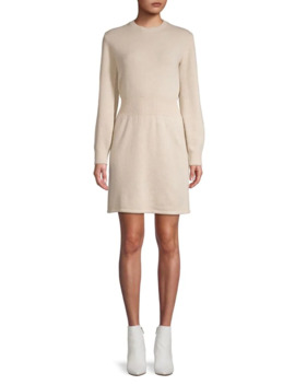 Rib Waist Long Sleeve Dress by Theory